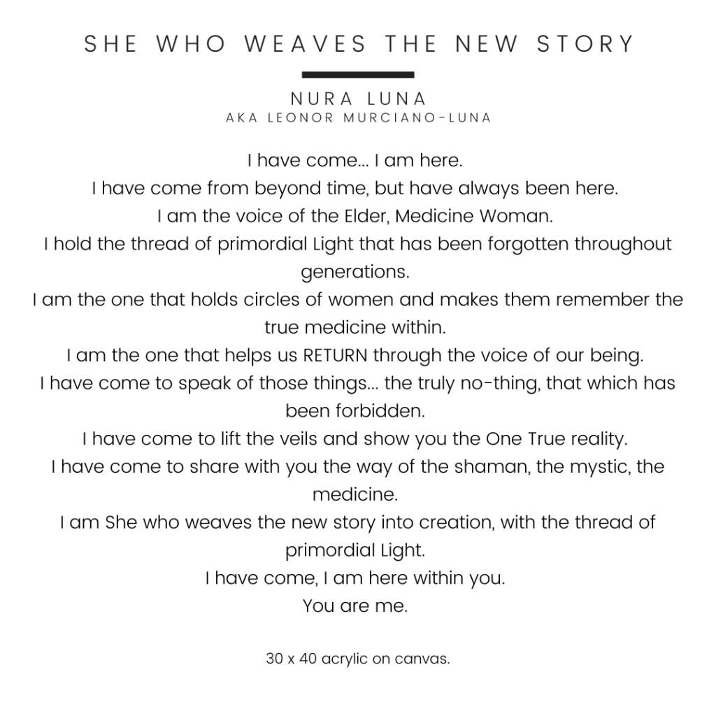 She Who Weaves the New Story