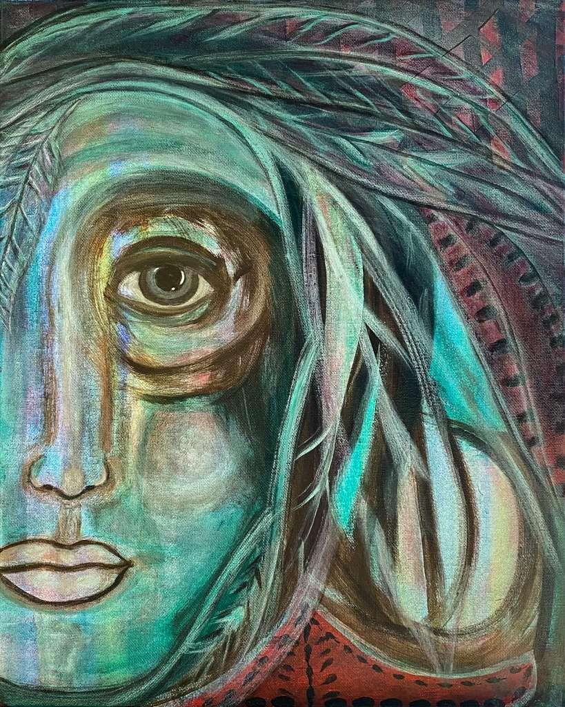Mystic Healer Painting by Carmen Baraka