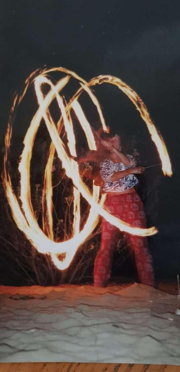 Lizz Fire Dancing