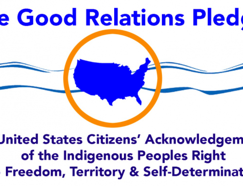 The Good Relations Pledge – Honoring and Acknowledging Indigenous Peoples'
